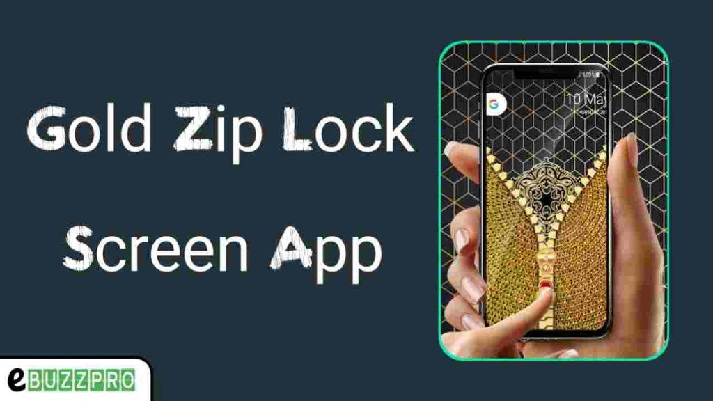 Tech Nukti Gold Zip Lock Screen App